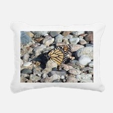 Butterfly on the Rocks Rectangular Canvas Pillow