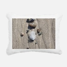 Feather on the Beach Rectangular Canvas Pillow
