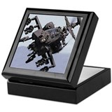 Apache helicopter Square Keepsake Boxes