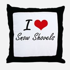 I love Snow Shovels Throw Pillow
