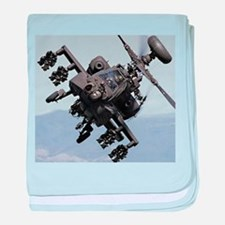 AH-64A/D, the Apache Attack Helicopte baby blanket