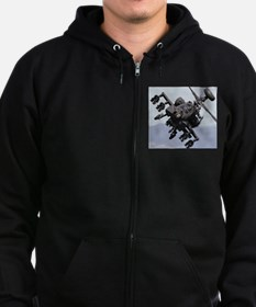 AH-64A/D, the Apache Attack Heli Zip Hoodie