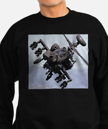 AH-64A/D, the Apache Attack Heli Sweatshirt (dark)