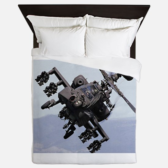 AH-64A/D, the Apache Attack Helicopter Queen Duvet