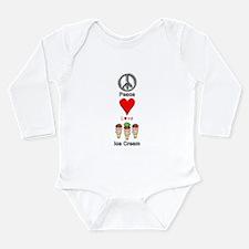Unique Ice cream Long Sleeve Infant Bodysuit