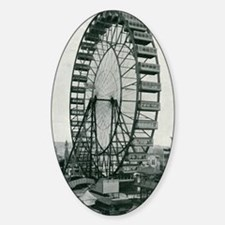 Columbian Exposition Ferris Wheel Sticker (Oval)