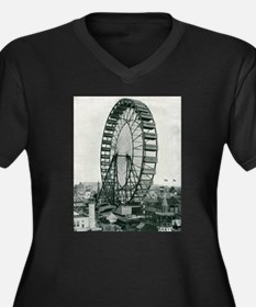 Columbian Exposition Ferris Whee Plus Size T-Shirt