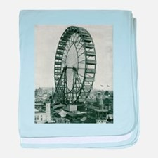 Columbian Exposition Ferris Wheel baby blanket