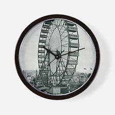 Columbian Exposition Ferris Wheel Wall Clock