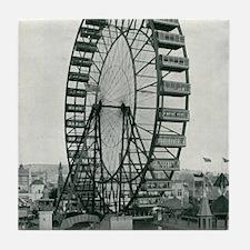 Columbian Exposition Ferris Wheel Tile Coaster