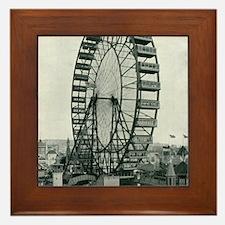 Columbian Exposition Ferris Wheel Framed Tile