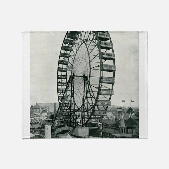 Columbian Exposition Ferris Wheel Throw Blanket