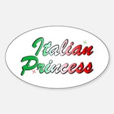 Italian Princess Oval Decal