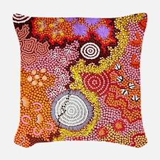 AUSTRALIAN ABORIGINAL ART 2 Woven Throw Pillow