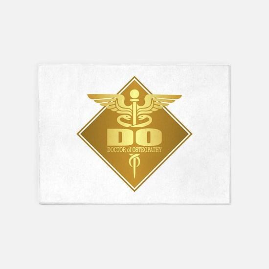 DO gold diamond 5'x7'Area Rug