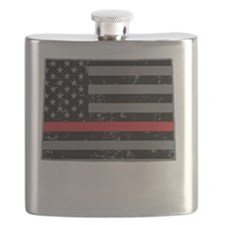 Wyoming Firefighter TRL Flask
