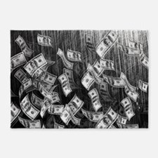 Make It Rain Cash Money 5'x7'Area Rug