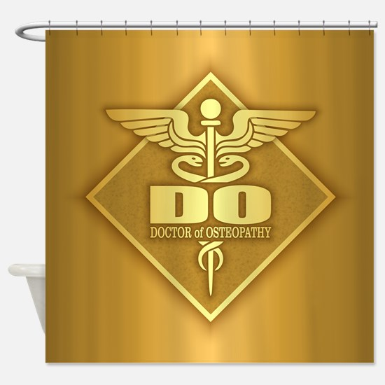 DO gold diamond Shower Curtain