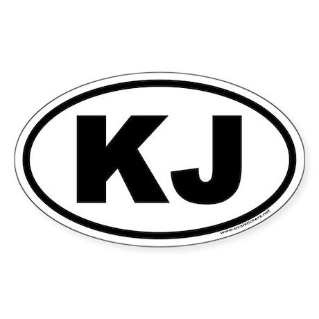 KJ Euro Style Oval Sticker