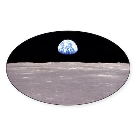Apollo 11 Space gift Oval Sticker