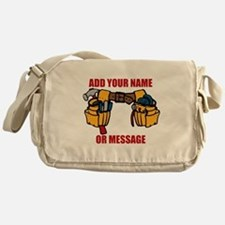 PERSONALIZED Tool Belt Graphic Messenger Bag