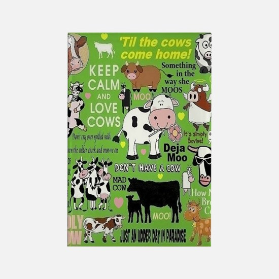 Cows Rectangle Magnet Magnets