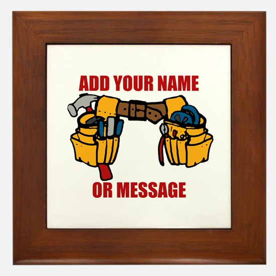 PERSONALIZED Tool Belt Graphic Framed Tile