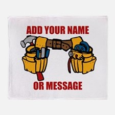 PERSONALIZED Tool Belt Graphic Throw Blanket