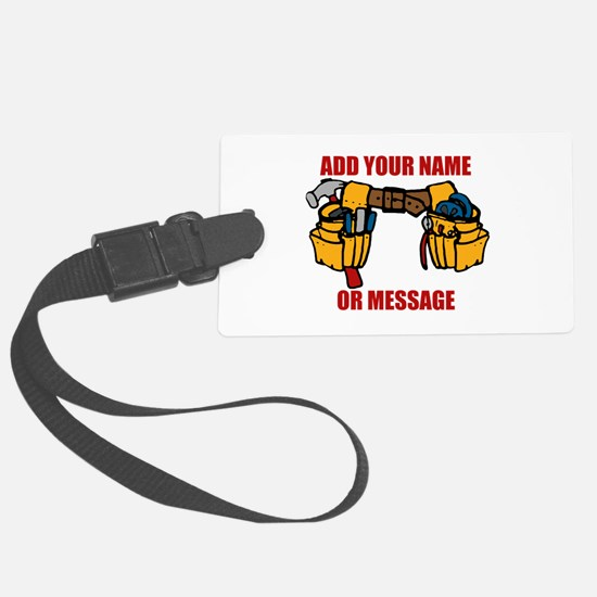 PERSONALIZED Tool Belt Graphic Large Luggage Tag