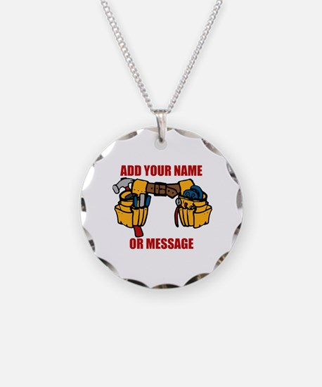 PERSONALIZED Tool Belt Graph Necklace Circle Charm