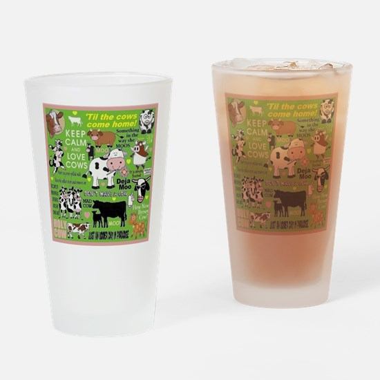 Cows Drinking Glass