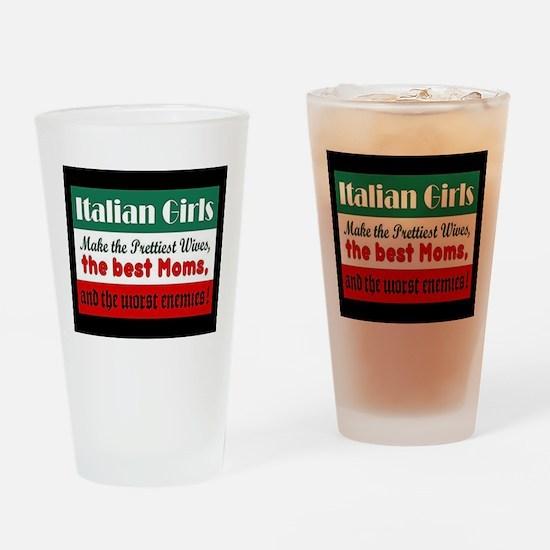 Italian Girls Drinking Glass