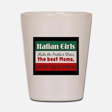 Italian Girls Shot Glass