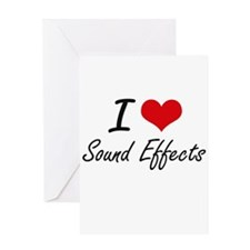I love Sound Effects Greeting Cards