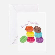 Fancy Frenchie Macaron Greeting Cards