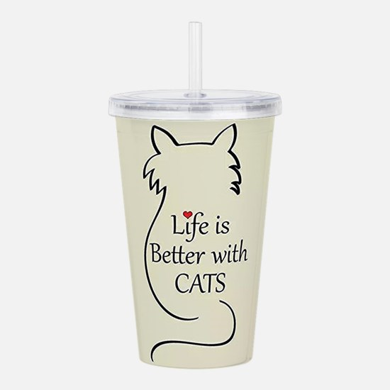 Better with Cats Acrylic Double-wall Tumbler