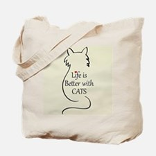 Better with Cats Tote Bag