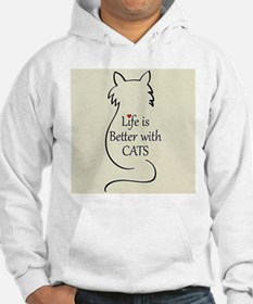 Better with Cats Hoodie