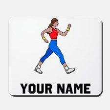 Woman Walking Mousepad