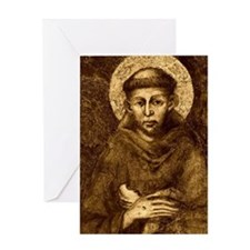 Saint Francis Portrait Greeting Card