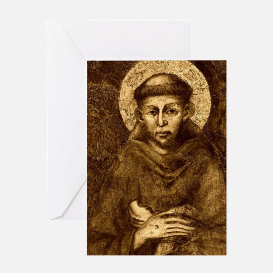 Saint Francis Portrait Greeting Card