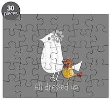 Custom All Dressed Up Paper Birds Puzzle