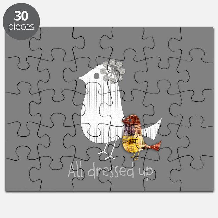 Cute Mama Bird Child Puzzle