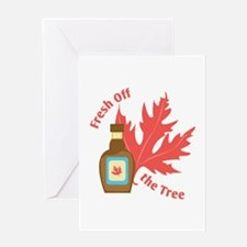Fresh Off Tree Greeting Cards