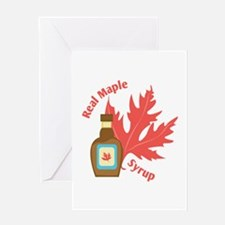 Real Maple Syrup Greeting Cards