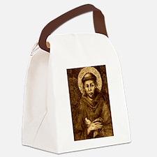 Saint Francis Portrait Canvas Lunch Bag