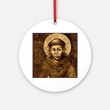 Saint Francis Portrait Round Ornament