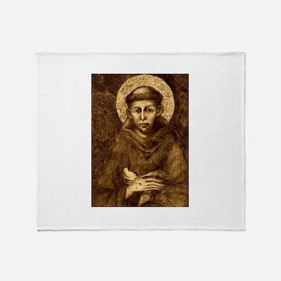 Saint Francis Portrait Throw Blanket