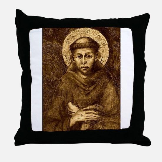Saint Francis Portrait Throw Pillow