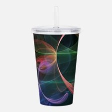 Futuristic Background Acrylic Double-wall Tumbler